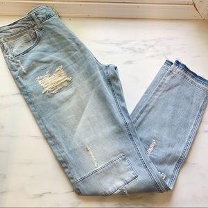 Jackson Jeans - Jackson Patchwork Boyfriend Jeans Size 34